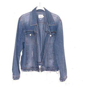 Calvin Klein hand painted denim jacket